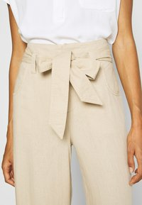 GAP - WIDE LEG SOLID - Trousers - wicker - 5