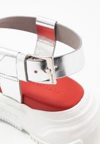 Sportmax - ARDEA - Platform sandals - argento - 2