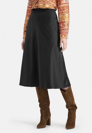 ZEITLOSER AUS SATIN- SLIWA - A-line skirt - schwarz