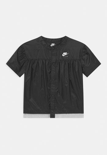AIR - Blouse - black/light smoke grey/white