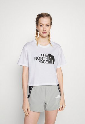 CROPPED EASY TEE  - Print T-shirt - white
