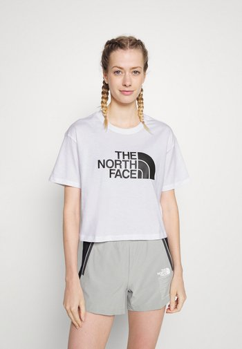 CROPPED EASY TEE  - T-shirts med print - white