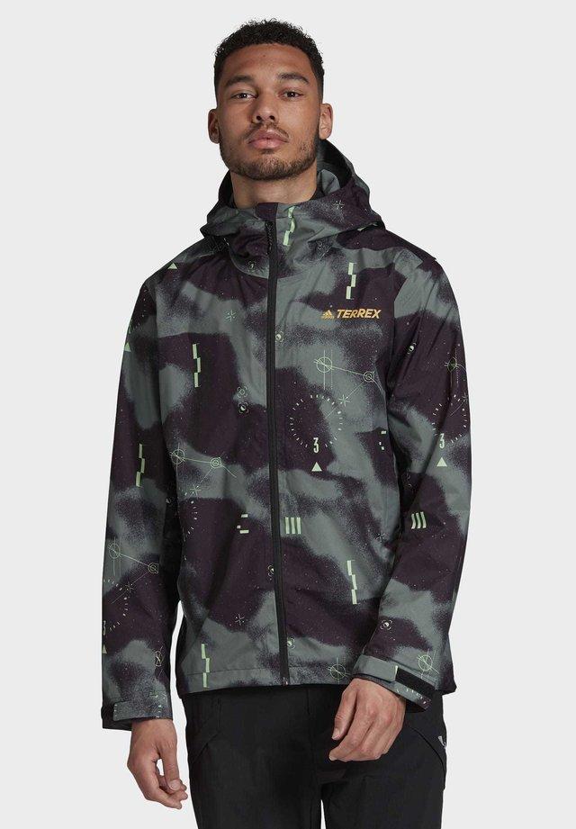 TERREX CAMO RAIN.RDY JACKET - Waterproof jacket - purple