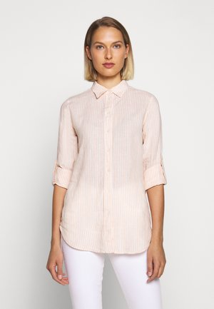 TISSUE - Button-down blouse - pink/cream