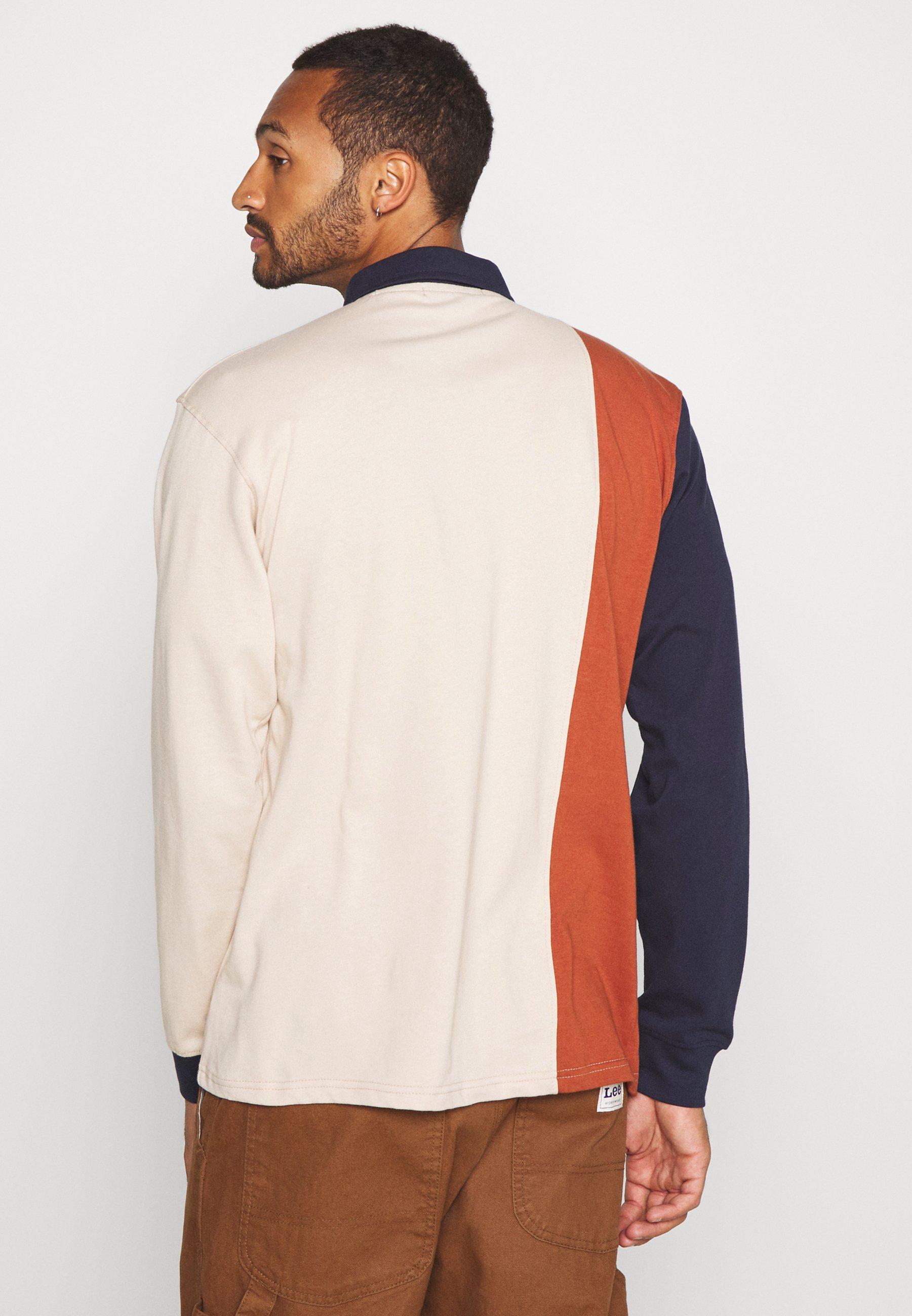 Mennace VERTICAL PANEL COLLEGE RUGBY - Polo shirt - beige LsQSR