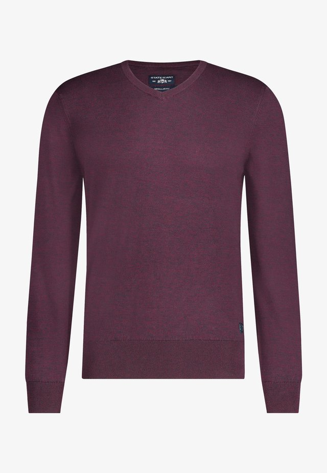 Sweater - wine red charcoal