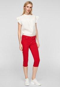 s.Oliver - Denim shorts - red - 1