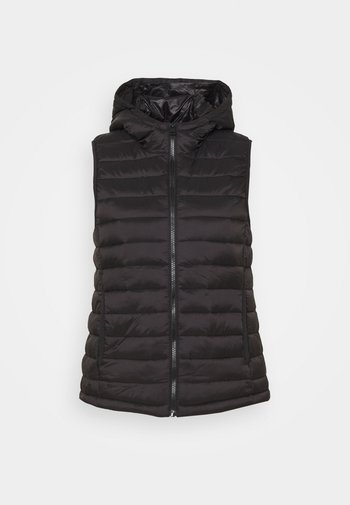 WOJANA - Waistcoat - black