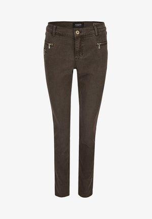 'MALU ZIP'  - Jeans Skinny Fit - dunkelbraun