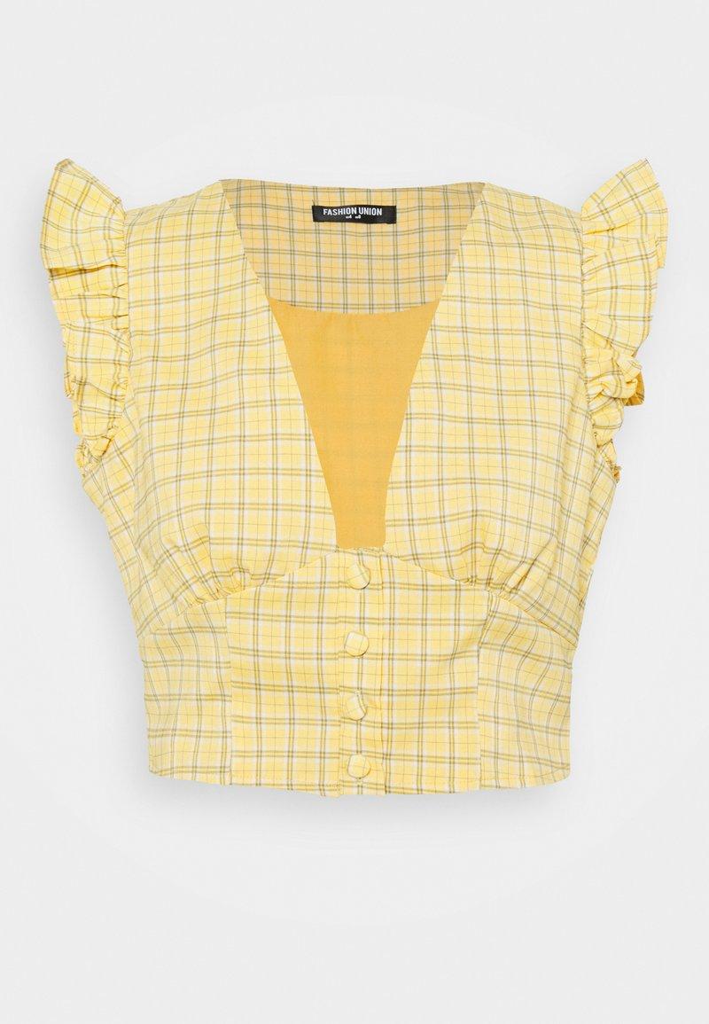 Fashion Union - VELINO - Camicetta - yellow