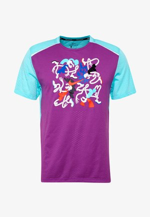 RISE  - Print T-shirt - vivid purple/reflective silver
