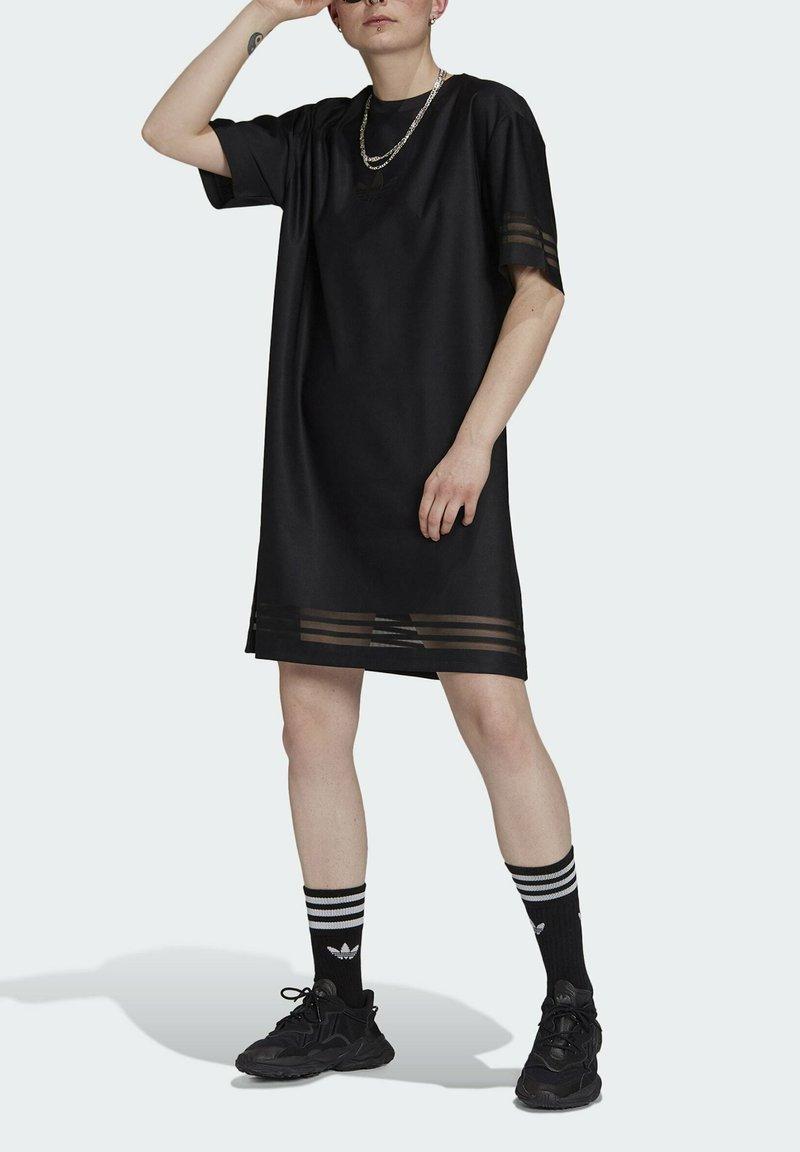 adidas Originals - Skjortklänning - black