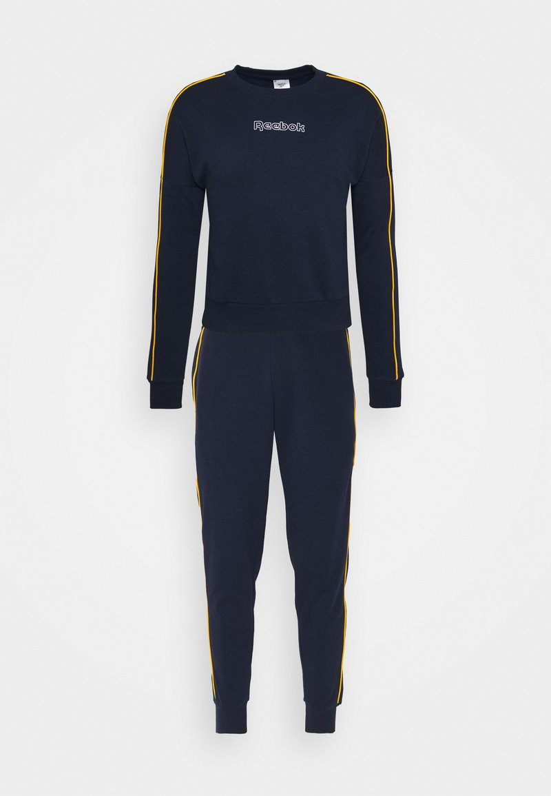 Reebok - PIPING TRACKSUIT - Tracksuit - vector navy