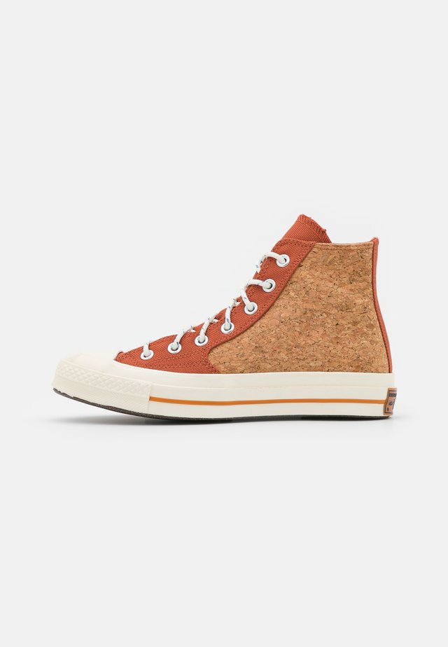 CHUCK 70 POPPED UNISEX - High-top trainers - red bark/egret