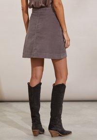 Odd Molly - HOLLY - Mini skirt - steel grey - 2