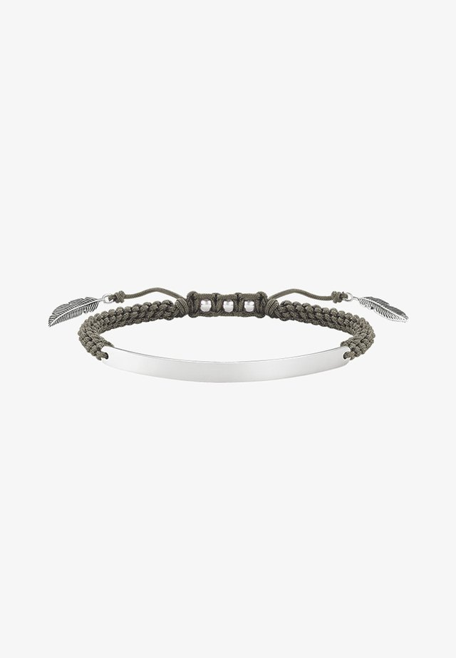 Armband - silver-coloured/green