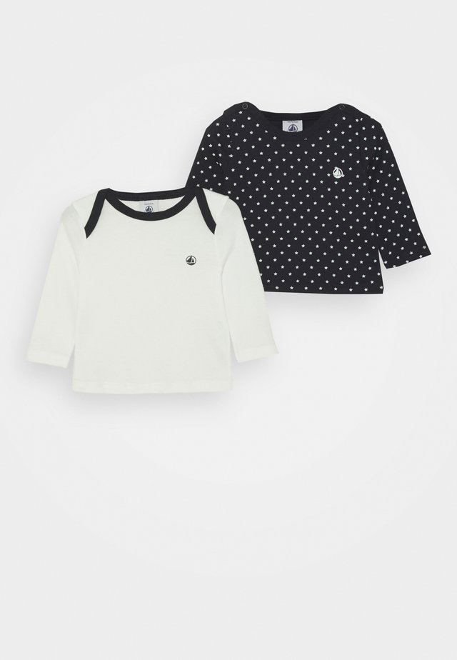 TEE 2 PACK - Camiseta de manga larga - dark blue/offwhite