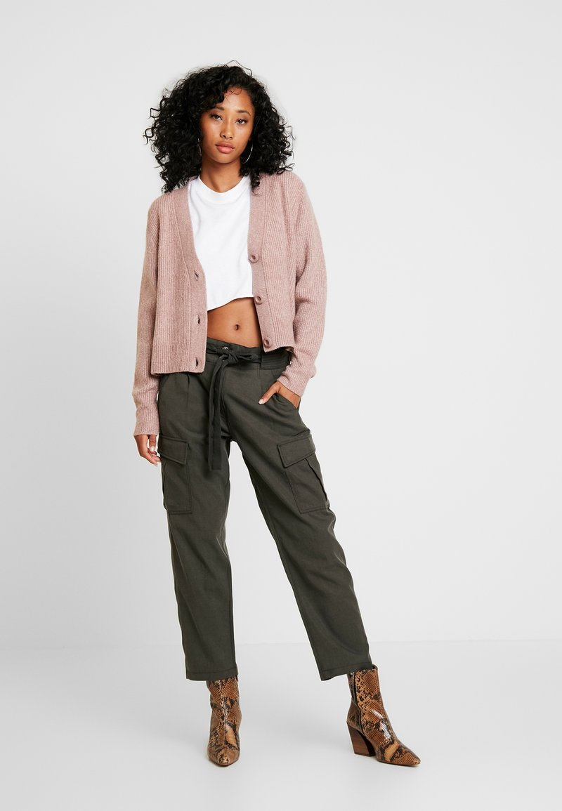 Forever New - THEA BUTTON CARDIGAN - Cardigan - mauve day
