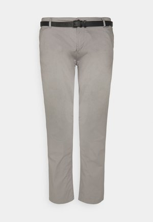 MEN'S WITH BELT - Chino kalhoty - grey