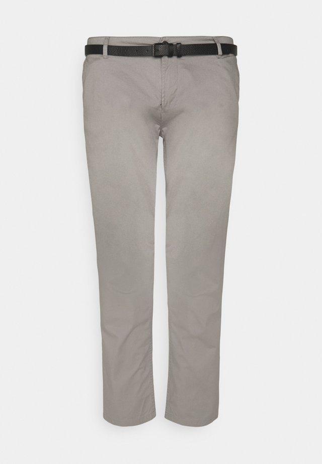 MEN'S WITH BELT - Chino kalhoty - grey