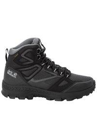 Jack Wolfskin - DOWNHILL TEXAPORE - Hiking shoes - black / grey - 5