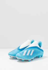 adidas Performance - X 19.3 LL FG - Moulded stud football boots - bright cyan/core black/shock pink - 2
