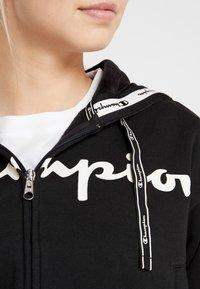 Champion - HOODED FULL ZIP - Sweatjakke /Træningstrøjer - black - 3