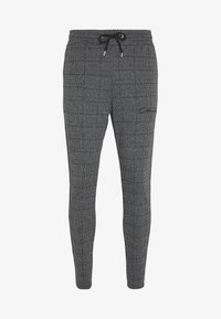 CLOSURE London - PANELLED CHECKED TROUSER - Pantalones deportivos - charcoal - 0