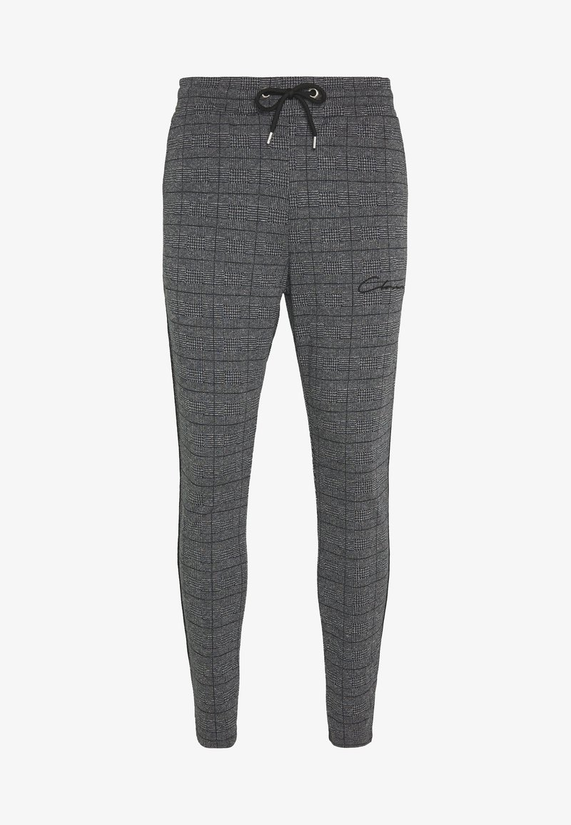 CLOSURE London - PANELLED CHECKED TROUSER - Pantalones deportivos - charcoal