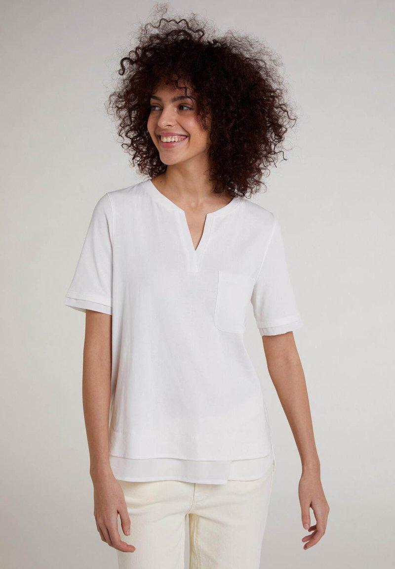 Oui - Basic T-shirt - cloud dancer