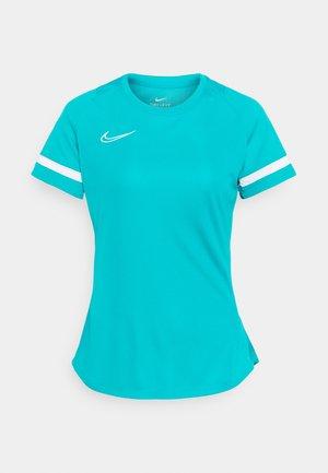 T-shirt con stampa - aquamarine/white