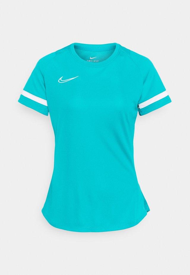 Camiseta estampada - aquamarine/white