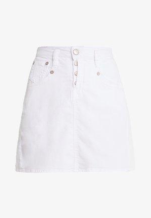 SHYRA SKIRT DRILL  - A-line skirt - white