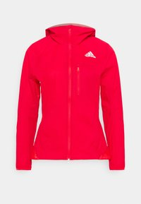 MARATHON - Waterproof jacket - vivid red/silver