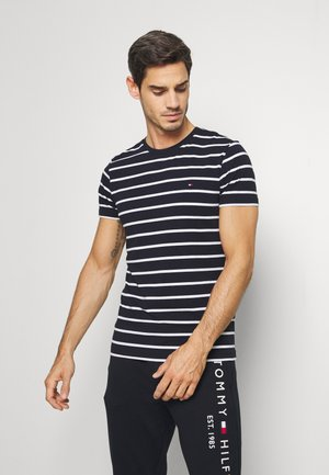 STRETCH SLIM FIT TEE - T-shirt basique - blue