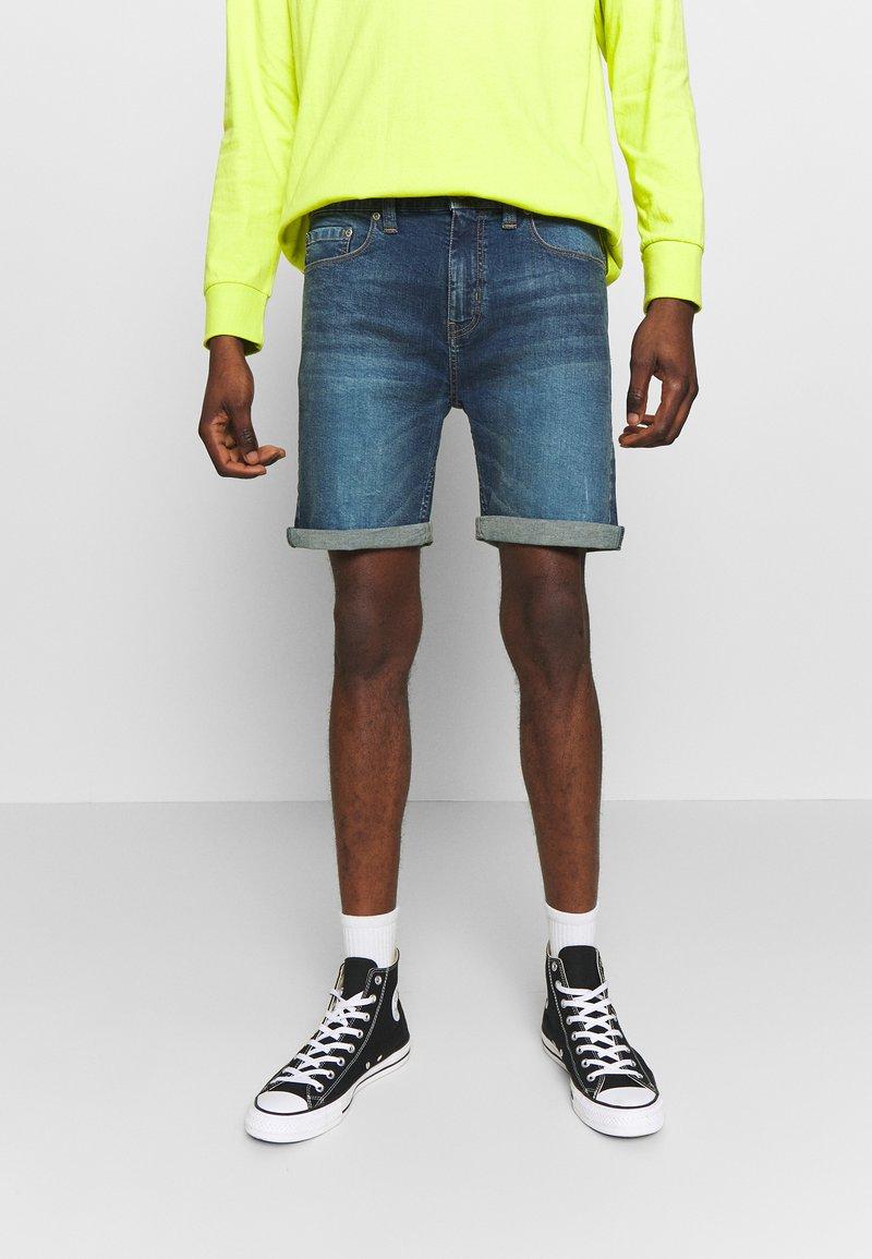 D-STRUCT - ARLES  - Denim shorts - blue