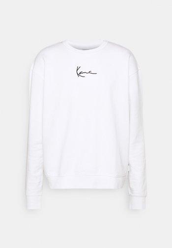 SMALL SIGNATURE CREW - Sweatshirt - white