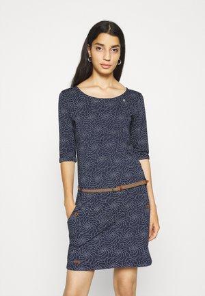 TANYA FLOWERS - Jersey dress - navy
