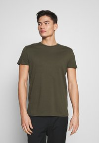 Pier One - 5 PACK - T-shirt basic - olive/ white/ navy /yellow /black - 3