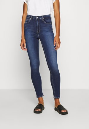 HIGH RISE SKINNY - Jeans Skinny Fit - dark blue denim