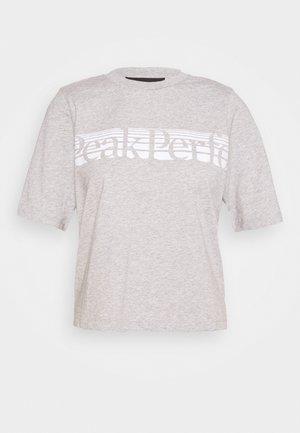 BOUNCE PRINTE TEE - Print T-shirt - grey melange