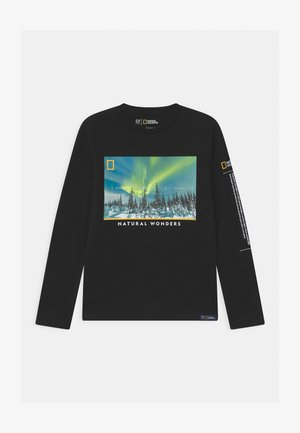BOY NATIONAL GEOGRAPHIC NORTHERN LIGHTS - Long sleeved top - true black