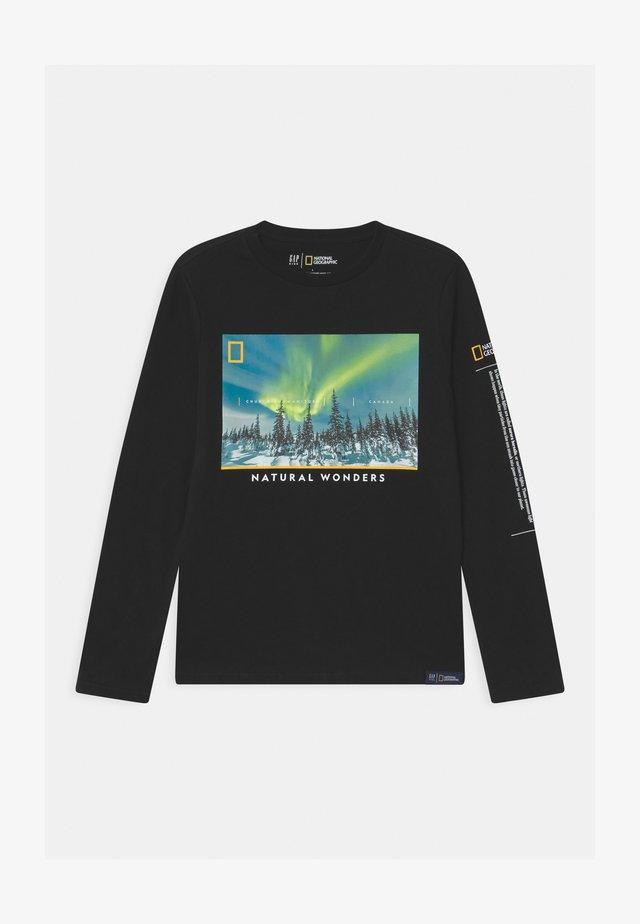 BOY NATIONAL GEOGRAPHIC NORTHERN LIGHTS - Långärmad tröja - true black