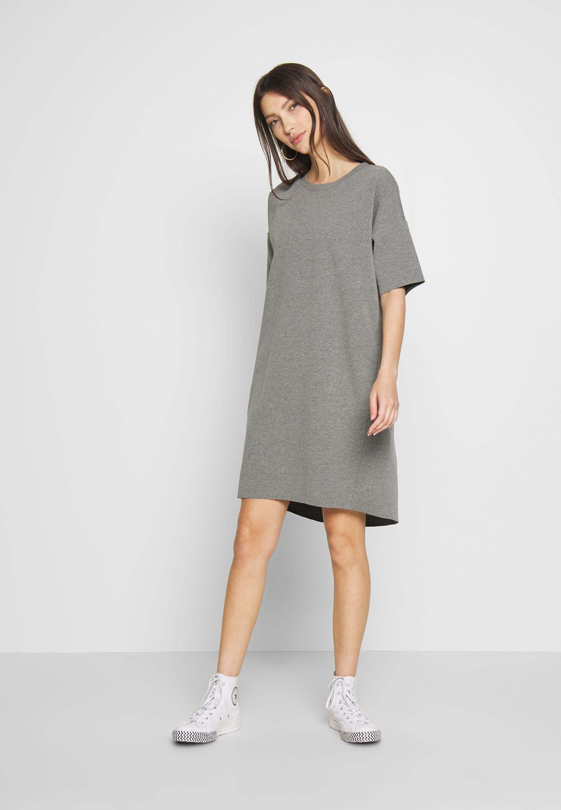 Minimum REGITZA DRESS - Jerseykjoler - dark grey mel