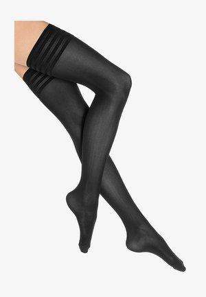 VELVET DE LUXE - Over-the-knee socks - black