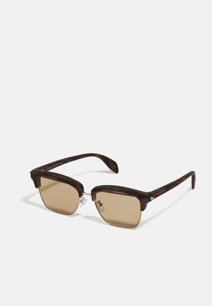 UNISEX - Sunglasses - silver-coloured/brown