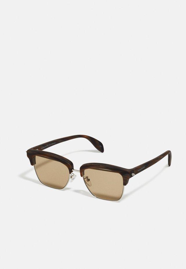 UNISEX - Zonnebril - silver-coloured/brown
