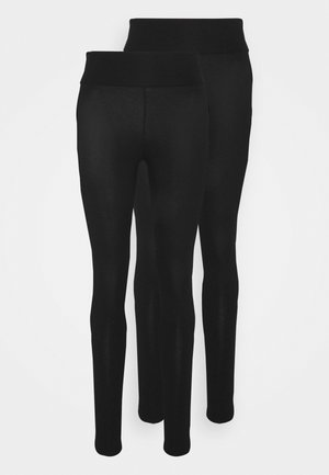 ORGANIC 2 PACK - Leggings - Trousers - black