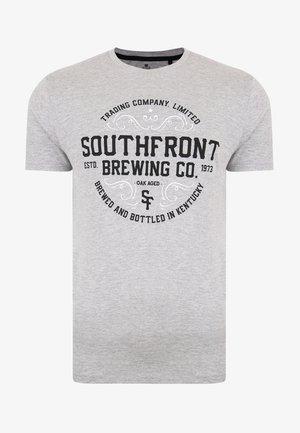 Print T-shirt - grey marl