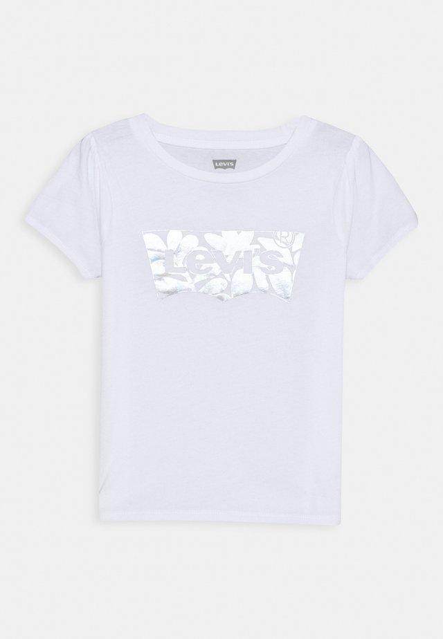 BABY TEE - Triko spotiskem - white